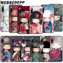 WEBBEDEPP Japanese Kokeshi Soft TPU Case for Xiaomi Mi 6 8 A2 Lite 6 9 A1 Mix 2s Max 3 F1 9T A3 Pro CC9E Cover abwe best sale 3 pcs flower print wood japanese folk craft kokeshi doll pink