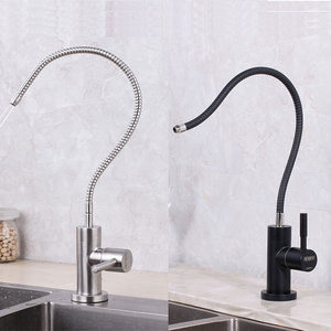 Image 1 - Flexible folding kitchen pure drinking water filter tap water filter black faucet
