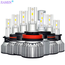 JIAMEN LED Bulb for Auto Led Ice H4 H7 H11 Headlight 9005 9006 hb3 hb4 Headlamp 6400LM 6000K 50W 12V Car Light(LED)