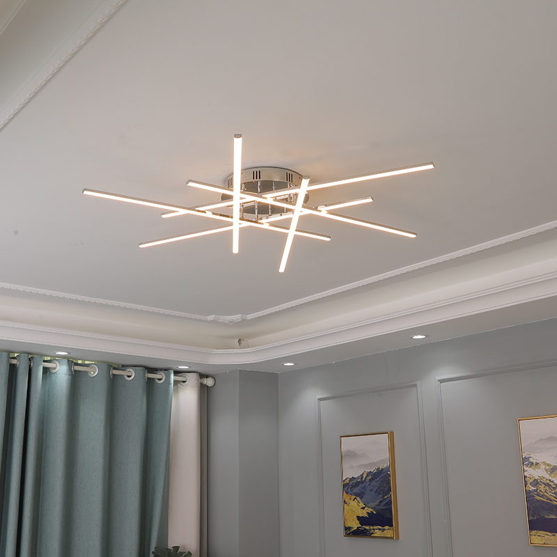 Modern Ceiling Led Ceiling Lights For For Living Room Bedroom Kitchen Ceiling Lamps Chrome Plating Indoor Lighting Fixture