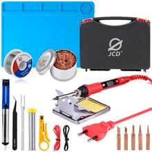 Набор пластиковых коробок для паяльника JCD, 220 В 80 Вт, Ремонтный инструмент для сварки с термоизоляционным ковриком ESD