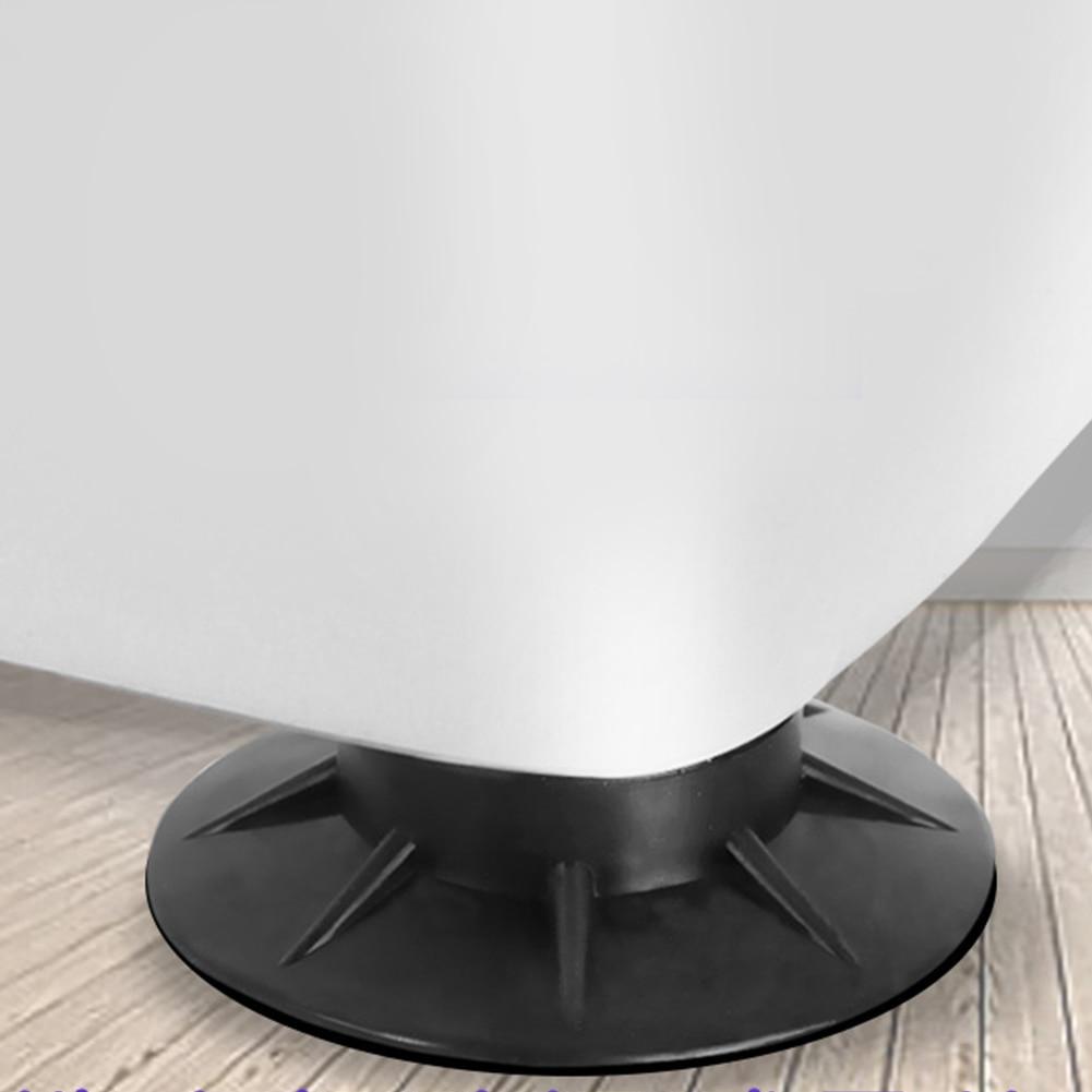 4pcs Floor Universal Mat Protectors Anti Vibration Washing Machine Feet Pads Rubber Furniture Shock Proof Non Slip Black