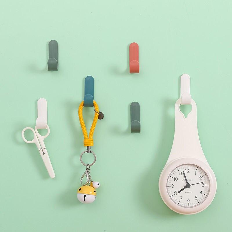 Купить 4 шт/компл крючки для полотенец пластиковые дверные вешалки