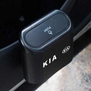Image 1 - Lata de lixo do carro assento de carro porta traseira pendurado caixa de armazenamento lata de lixo para kia k2 k3 k5 k9 ceed sportage sorento cerato sid r rio alma