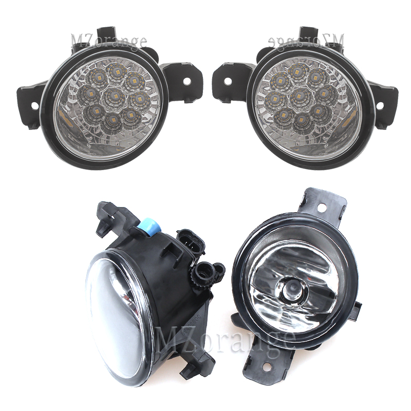 LED Fog Lights For Renault Symbol Clio Master Laguna Grand 1998-2015 Halogen Headlight Headlights 2pcs Foglights DRL Fog Light