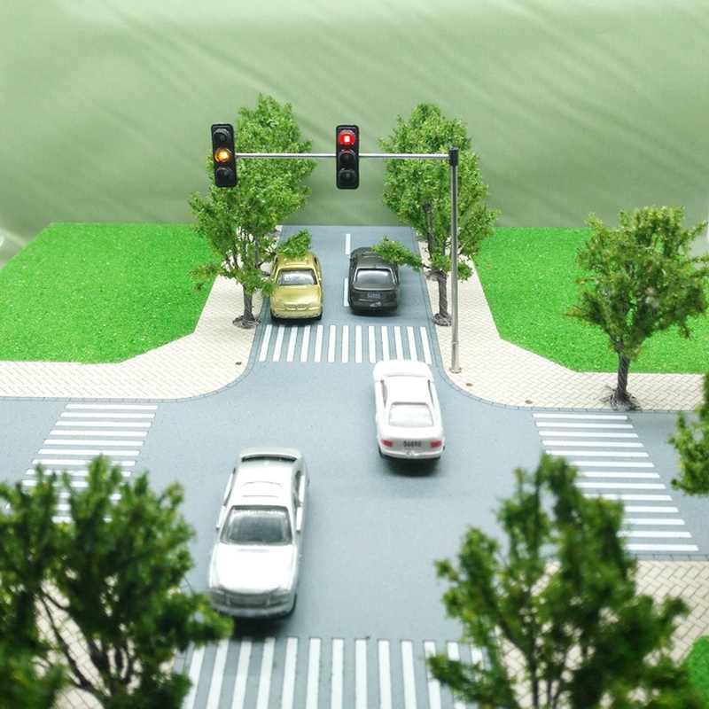 3 kolor ruchu sygnały świetlne Ho Oo Model w skali 6Led dla Diy piaskownica stołowa przekraczania ulicy budowa modelu 4