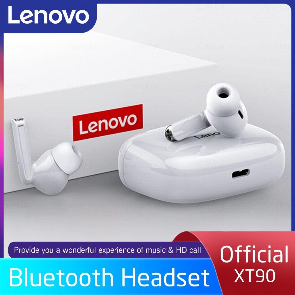 Оригинальные беспроводные наушники Lenovo XT90 для Xiaomi/Samsung/Huawei/iphone, Bluetooth-наушники, спортивные игровые Hi-Fi стереонаушники