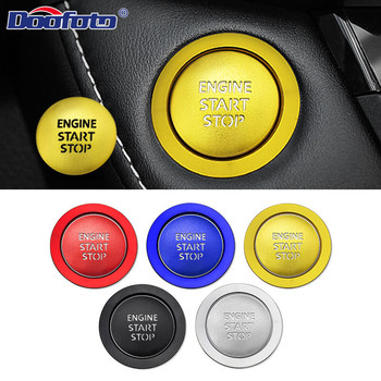 Doofoto Car Start Stop Button Cover Ring Sticker For Toyota Corolla CHR Camry GT86 Rav4 Yaris FT86 FR-S Accessories Font Glow image