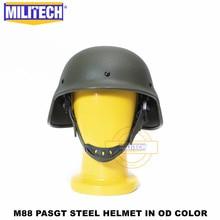 Пуленепробиваемый Стальной шлем MILITECH NIJ IIIA 3A M88, пуленепробиваемый Стальной шлем PASGT, с анализом