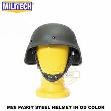 Militech Nij Iiia 3A M88 Staal Bullet Proof Helm Staal Ballistische Helm Pasgt Staal Bulletproof Helm Met Testrapport