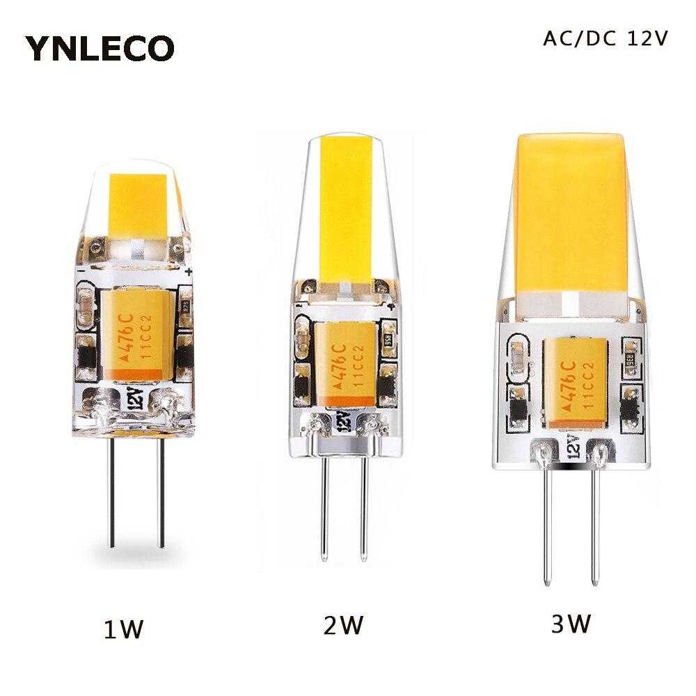 1W 2W 3W G4 LED Bulb 12V AC DC COB LED G4 Lamp Light Bulbs 360 Beam Angle Replace 10W 20W 30W Halogen Lamp 3000K 4000K 6000K