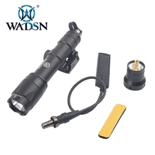Wadsn 버전 airsoft m600 전술 스카우트 라이트 led 340 루멘 원격 압력 스위치 m600c 라이플 손전등 wex072 무기 라이트