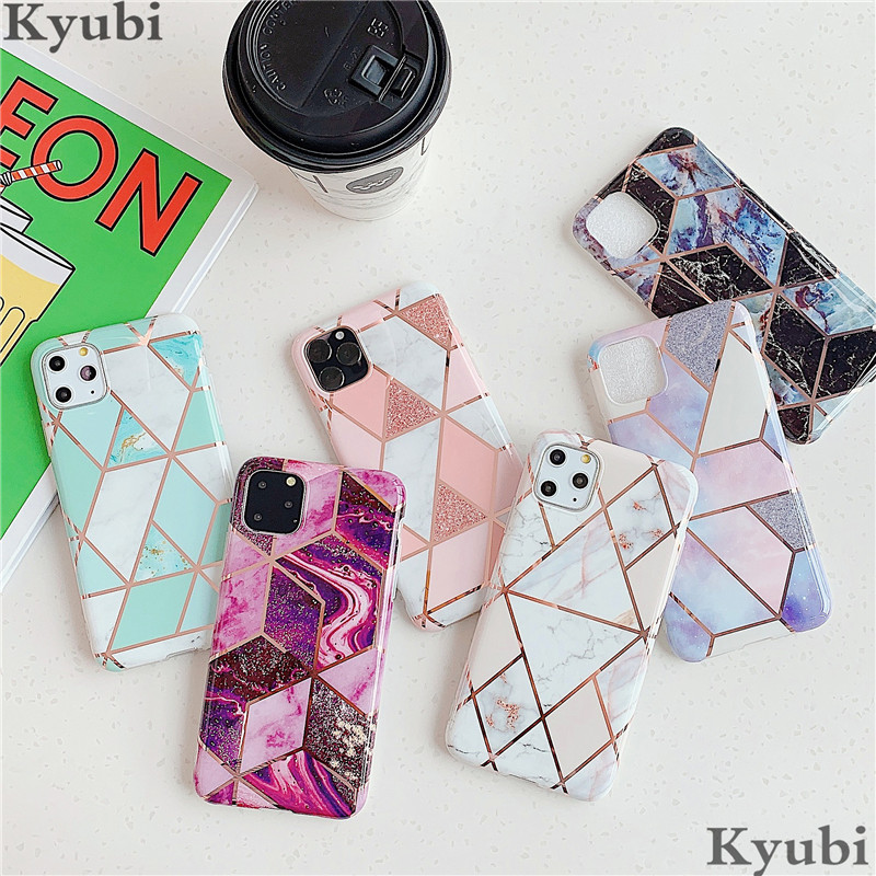 Glossy <font><b>Case</b></font> For <font><b>iphone</b></font> 6 6S 7 8 Plus <font><b>X</b></font> XR XS MAX Marble Silicone Hybrid Matte Cover For <font><b>iphone</b></font> 11 Pro Max 6 6S 7 8 Plus ETUI image