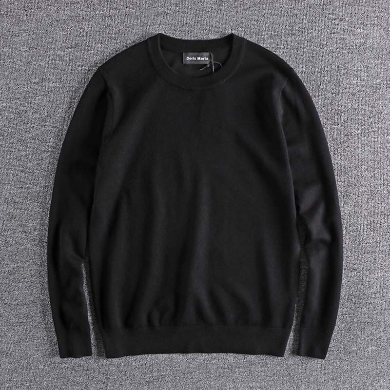 Male's Sweater Men's 2019 Winter New Thin Knitwear Foreign Trade Original Single Men's Round Neck High Quality Sweater Tops Wear