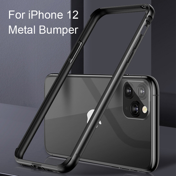 Luxury Aluminum Metal Silicone Bumper Case For iPhone XS XR XS MAX Soft TPU Frame Cover For iPhone 7 8 Plus 6 6S Shockproof Case
