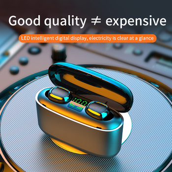 Bluetooth Wireless Headphones with 3500mAh Charging Case Power LED Display TWS Bluetooth Earphones Touch Control Sports Headsets