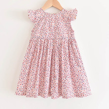 Girl Flower Dress 2020 New Summer Kids Floral Dress Toddler Baby Party Dress Girl Princess Sleeveless Children Clothing Vestidos