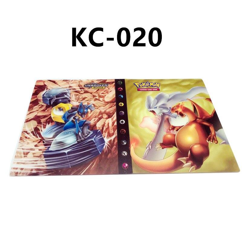 24 стиля Pokemon Cards альбом книга мультфильм аниме Карманный Монстр Пикачу 240 шт держатель альбомная игрушка для детей подарок - Цвет: KC-020