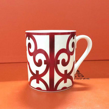 Spanish Balcony Coffee Mugs China Red Fine Bone Ceramic Water Cup French Afternoon Teacup For Beautiful Gift Box