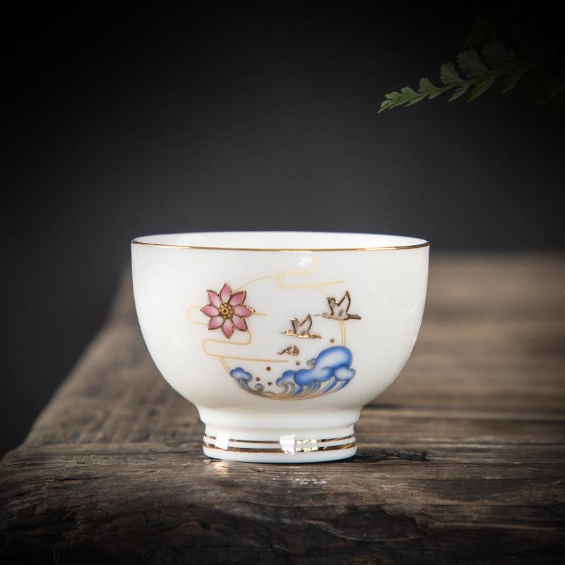 70ml Ceramic Master Cup Drinkware Handpainted Blue And White Chinese Kung Fu Tea Set Cups Ceramic Porcelain Cups For Puer Oolong
