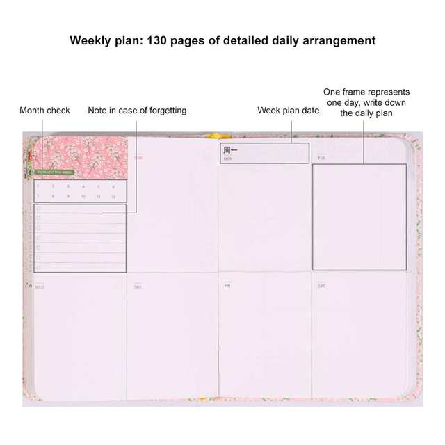 It is a picture of The Daily Planner pertaining to notepad