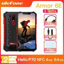 Ulefone Power 6E Водонепроницаемый IP68 NFC прочный мобильный телефон на процессоре Helio P70 Otca-core Android 9,0 4 Гб + 64 Гб беспроводной зарядки смартфона