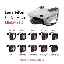 Sunnylife – filtres dobjectif de caméra MCUV CPL ND4/8/16/32 NDPL, pour accessoires de Drone DJI Mavic Mini /Mini 2