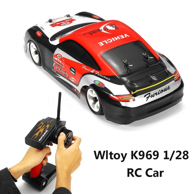 Wltoys K969 1:28 RC Car 2.4G 4WD Brushed Motor Voiture Telecommande 30KM/H High Speed RTR RC Drift Car Alloy Remote Control Car 1
