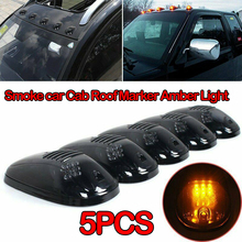 5x Smoke Cab Top Roof Marker Lamp 12LED Amber Light for 03 16 Dodge Ram2500/3500/4500