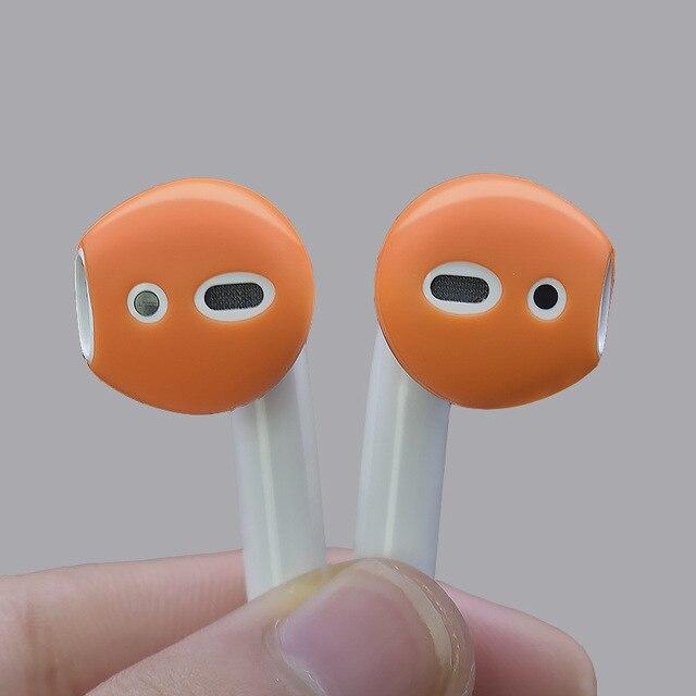 Pour les pommes airpods anti-perte silicone manchon sans fil Bluetooth casque étui ultra-mince anti-dérapant bouchons doreille pour air pods écouteur