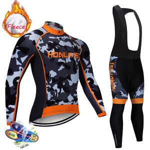 Image 3 - winter fleece cycling set 2020 Long Sleeve Mountain Bike Clothes Wear Maillot Ropa Ciclismo Quick Dry Racing Bicycle Clothing