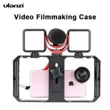 Ulanzi – support de trépied u rig Pro pour iPhone 12 Pro Max, 3 supports de chaussures, étui de tournage de film, stabilisateur de téléphone portable