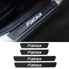 4 шт автомобильные наклейки защита от царапин углеродное волокно