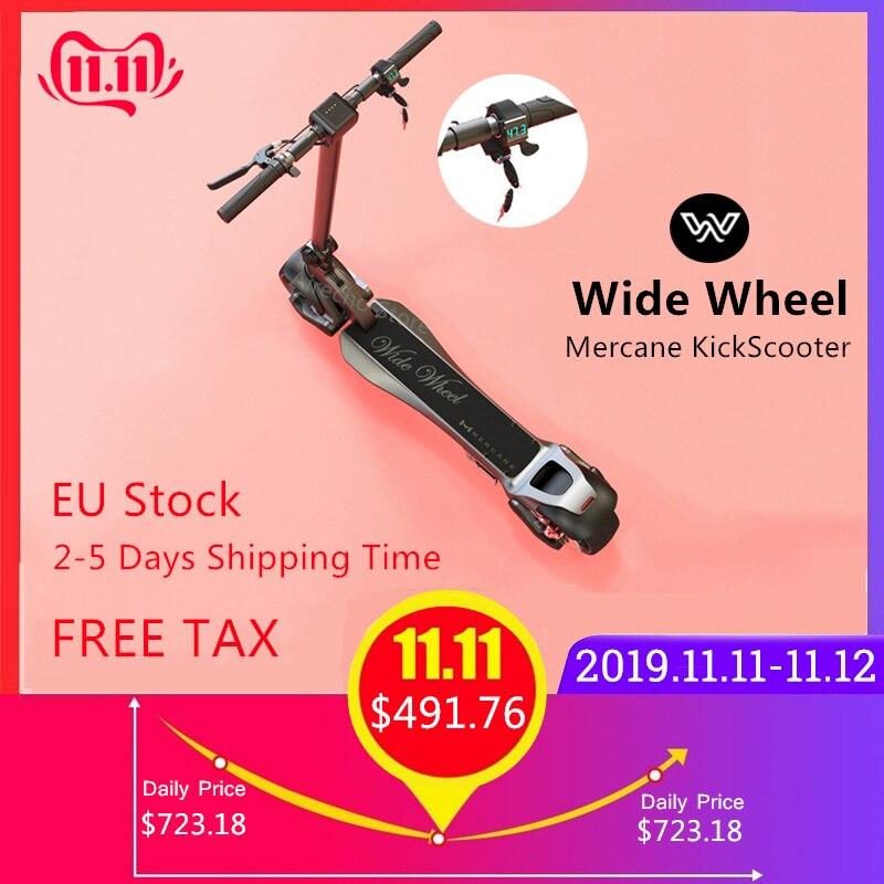 Estoque da ue 2019 mais novo 500 w/1000 w mercane widewheel inteligente scooter elétrico dobrável ampla roda kickscooter duplo motor skate