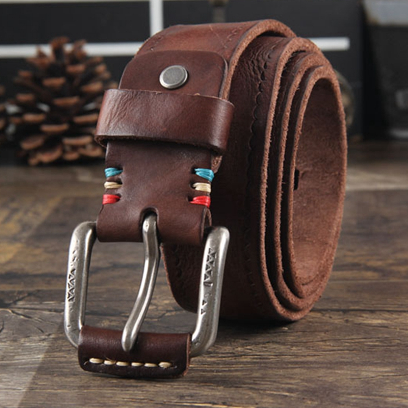 male genuine leather strap designer belts men high