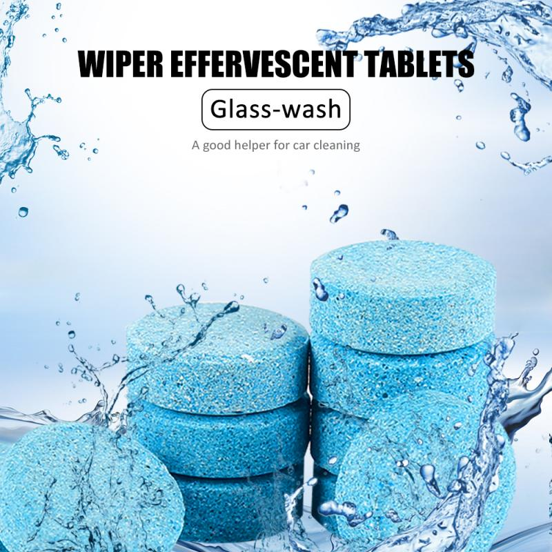 10PCS Car Wiper Tablets Detergent Effervescent Auto Windshield Glass Cleaning Compact Concentrated Motorcycle Wash Cleaner 1