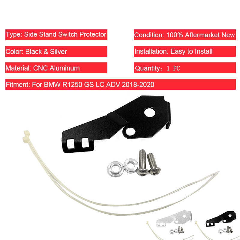 Motorcycle Side Stand Switch Guard Protectors For R1200GS LC Adventure 2014-2018