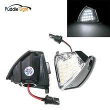 цена на 2pcs Error Free Led Under Mirror Light Puddle Lamp For Vw Volkswagen Golf 5 Plus Gti Mkv Passat B6 Cc 3bg Jetta R32 Sharan