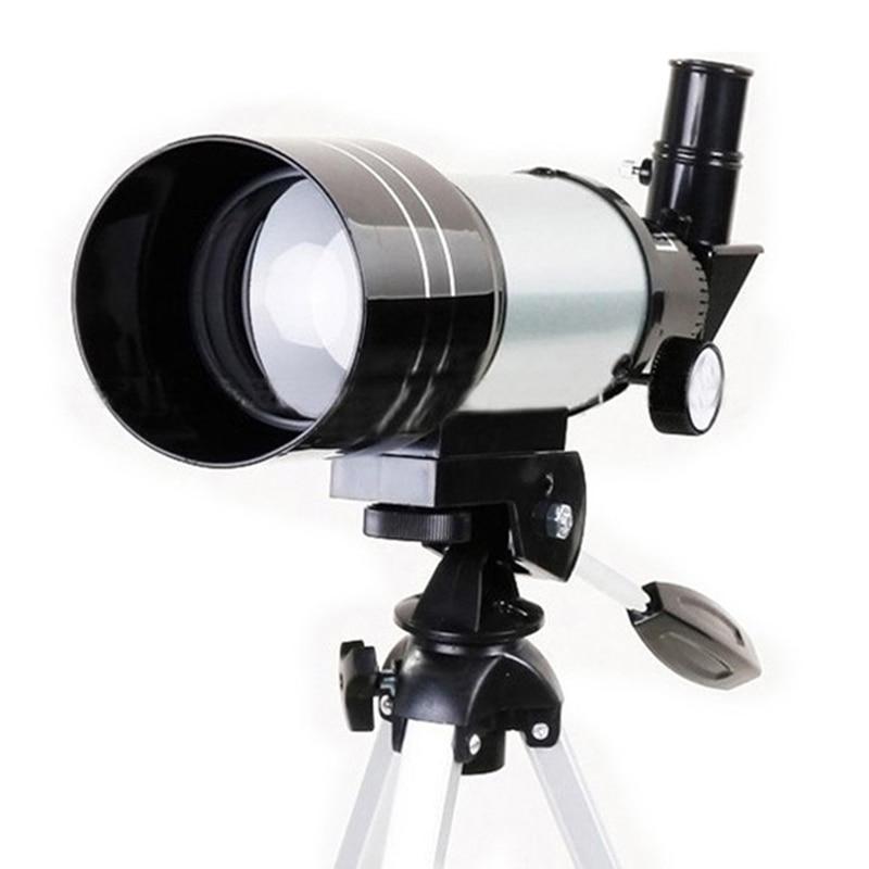Telescopio profesional astronómico Monocular con trípode F30070M/F36050 telescopio Monocular Refractor espacio alcance Palanca telescópico de acero de aleación pluma varilla de vidrio de romper martillo 19cm hasta 40cm de acero palo arma-Instrumento de coche auto- defensa de protección