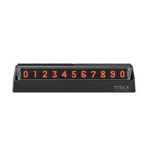 Image 5 - For xiaomi Mijia Bcase TITA  X Share To Bcase Flip Type Car Temperary Parking Phone Number Card Plate Mini Car Decoration