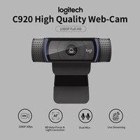 Logitech HD Pro Webcam C920 1080P 30fps Camera Widescreen Video Calling Recording Laptop Web Cam Auto Focus Glass Lens Camerea