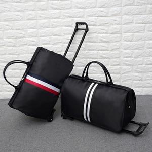 Image 5 - JULYS שיר גברים תיקי מזוודות עגלת נסיעות תיק עם גלגלים מתגלגל לשאת על מזוודה תיק גלגלי נשים Bolsas