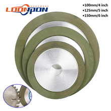 100mm/125mm/150mm Diamond Grinding Wheel  Grinding Circle Grit 150-320 for Tungsten Steel Milling Cutter Tool Sharpener Grinder