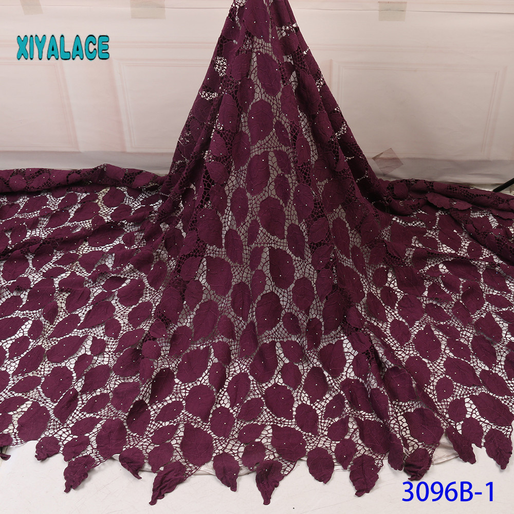 New Arrival African Swiss 100% Cotton Voile Lace In Switzerland Miminal Holes Nigerian Tulle Lace Fabric For Daily Dress YA3096B