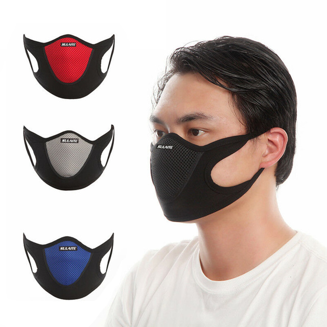 Cotton Velvet Filter Motorcycle Mask Mesh Fabric Anti dust-wind Breathable Mask Outdoor Cycling Riding Sports Protection 3
