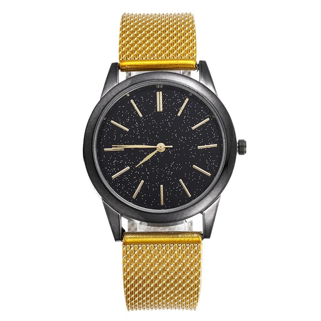 2020 New Men's Quartz Watch Luxury Starry Sky Scale Dial Wrist Watch Top Rose Gold Men's Analog Clock Watch Relogio Feminino 2