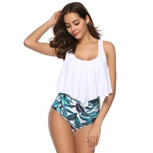 Bikini Sexy Suit High Waist Swimsuit Two-piece Floral Swimwear Retro Large Size Beachwear Swimming Ladies BikinisX