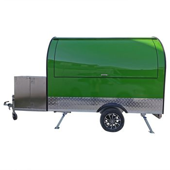 custom made food truck concession food trailer Green Stainless Steel Concession Food Trailer Food Truck