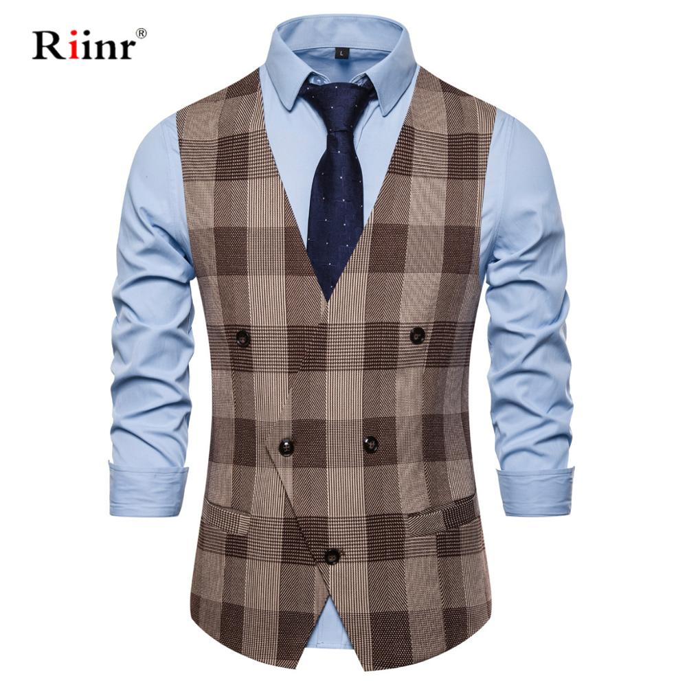 Formal Business Suit Vest Men Slim Fit Double Breasted Costume Vests Homme Fashion White Mens Wedding Tuxedos Gilet Homme