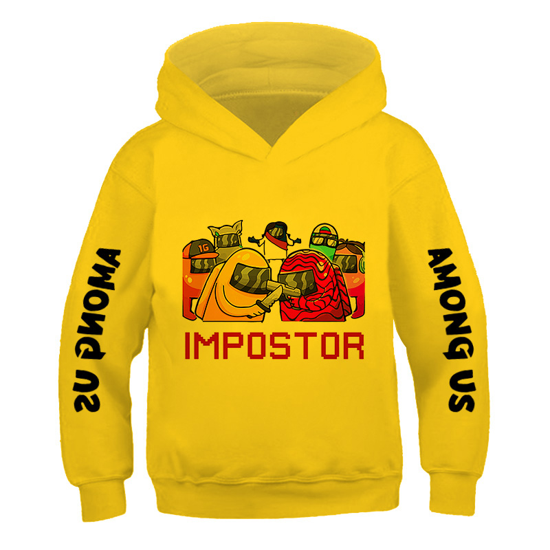 Children's Street Style Games Hip ho 3-14Years Among Us Kids Size comic fashion Hoodie Boys&Girls Long Sleeve Hooded Sweatshirts 4
